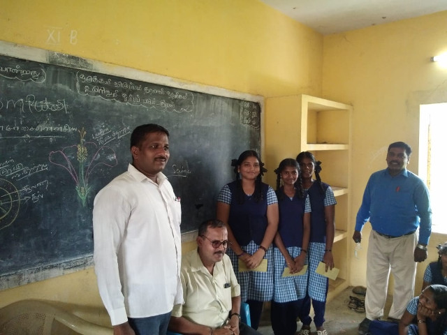 Toppers of Govt Girls Higher Secondary School Vadakarai Chennai